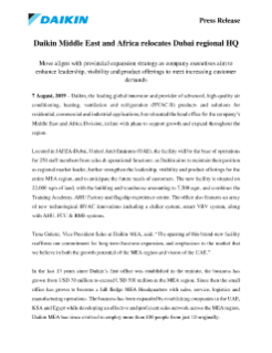 PR - Daikin Middle East and Africa relocates Dubai regional HQ-EN
